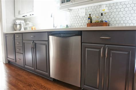 Painting Kitchen Cabinets Gray Blue Grey Kitchen Cabinets