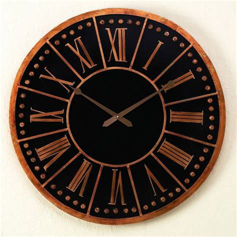 Accent Wall Clock by Antique Black Iron Accent Wall Clock Modern Clocks