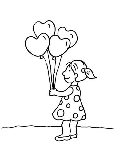 kostenlose malvorlage herzen herz luftballons zum