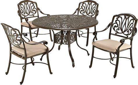 jcpenney home styles floral blossom 5 pc cast aluminum