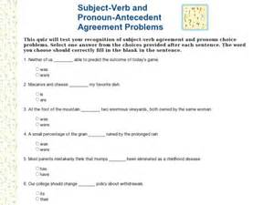 Pronoun Antecedent Worksheet Subject Verb Agreement Worksheets With Answers Abitlikethis