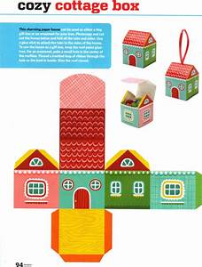 free printable paper house box free printables and more With free craft templates to print