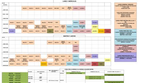 oferta de grupos calendario academico fundacion general universidad