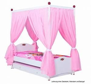 Vorhang Für Bett : cindy himmelbett rosa kinderbett mit himmel bett m dchen ebay ~ Whattoseeinmadrid.com Haus und Dekorationen