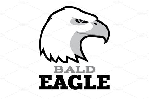 bald eagle template bald eagle logo template logo templates on creative market