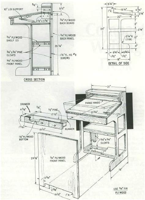 writing desk woodworking plans woodworking plan for writing desk complete woodworking