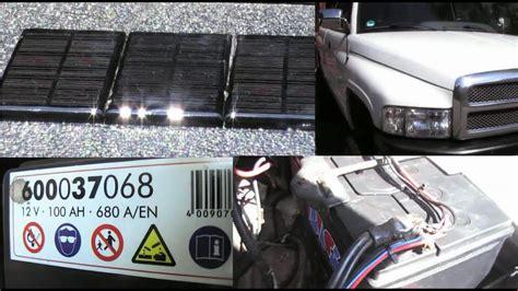 auto selber bauen auto batterie schutz mit solarzellen selber bauen us car mit solar strom laderegler dodge