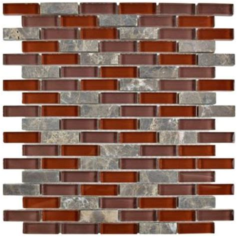 Home Depot Merola Subway Tile by Merola Tile Tessera Subway Bordeaux 11 3 4 In X 11 3 4 In