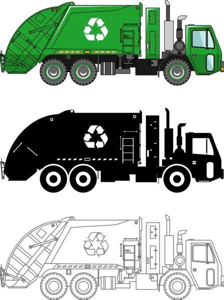 ᐈ Camiones de basura ilustracion de stock vectores camion