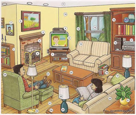 is livingroom one word living room online dictionary for kids
