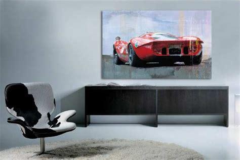 papier peint moderne chambre tableau contemporain voiture tableaux déco pour papa