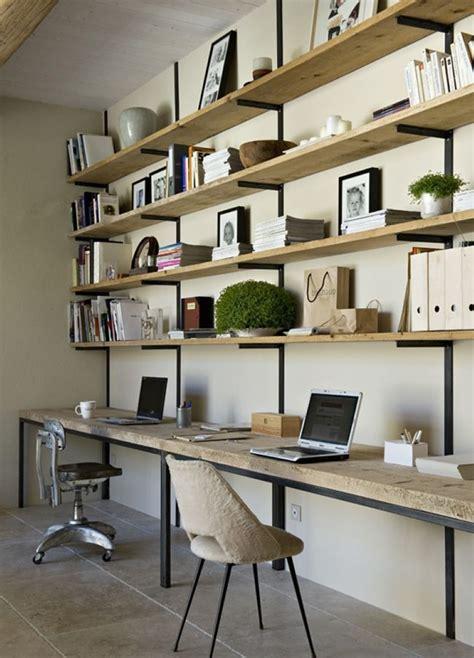 bureau brut diy bureau industriel bois brut et acier noir