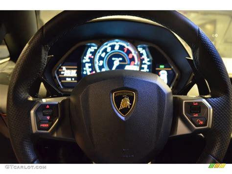 2012 Lamborghini Aventador Lp 700-4 Nero Ade Steering