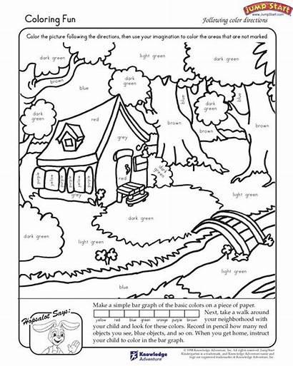 Worksheets Fun Coloring Kindergarten Activities Reading Pages