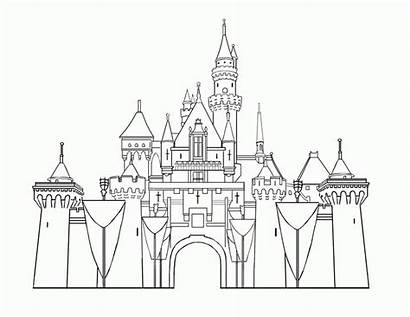 Coloring Disneyland Pages Castle