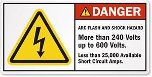 arc flash and shock hazard label sku lb 0008 With arc flash and shock hazard labels