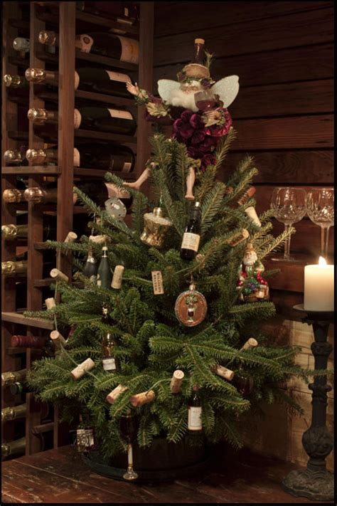 wine theme christmas tree 12 days of chagne the collected room by kathryn greeley