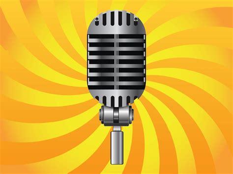 Classic Microphone Vector Art & Graphics
