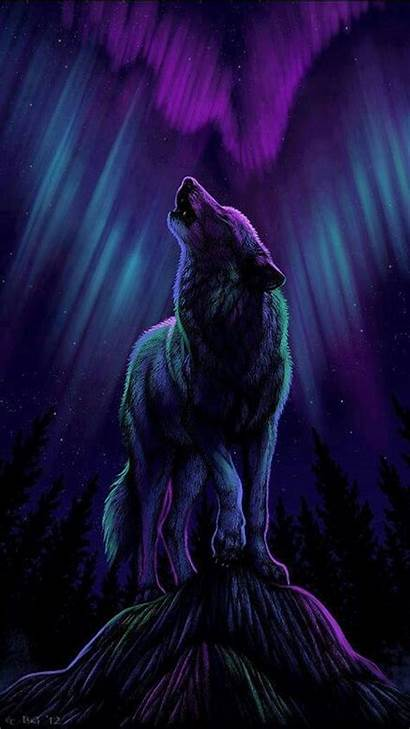 Wolf Wolves Galaxy Howling Anime Spirit Drawing