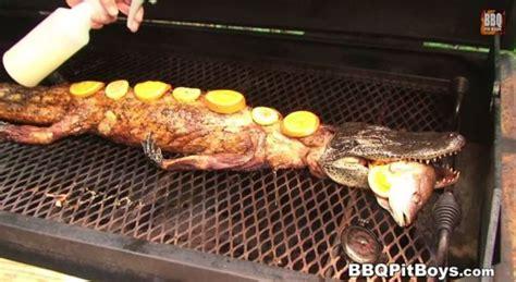 alligator cuisine barbecued crawfish stuffed whole alligator neatorama