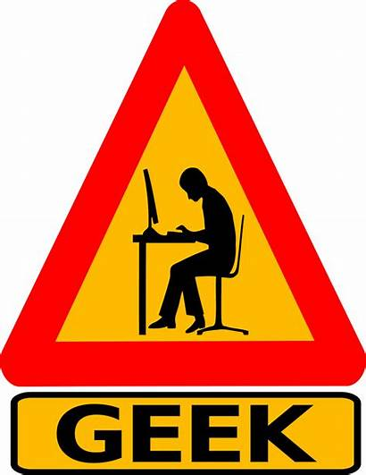 Funny Geek Warning Signs Labeled Symbol Clipart