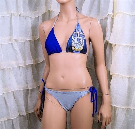 harry potter ravenclaw house crest cosplay bikini bra