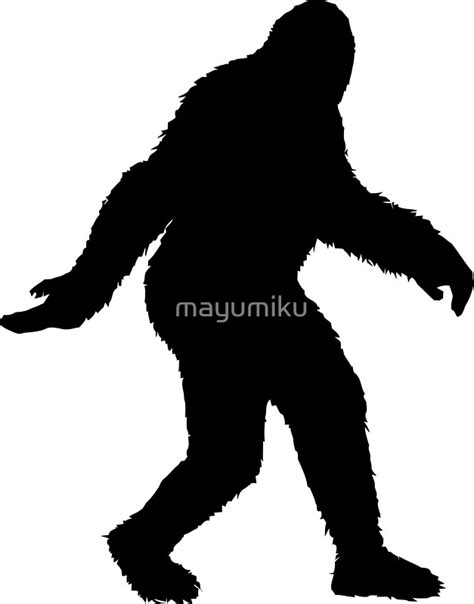 Bigfoot Clipart Bigfoot Silhouette Vector Www Imgkid The Image Kid
