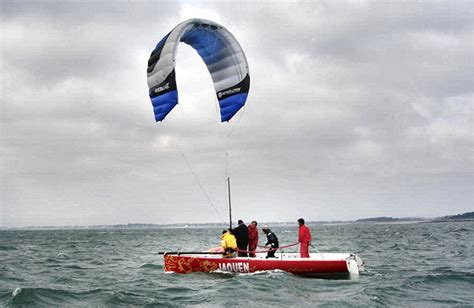 Sailing Boat With Kite by Peter Lynn Aims For Kite Sailing Craft Developments