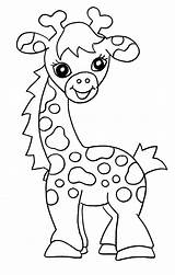 Giraffe Coloring Pages Printable Colour Colouring Giraffes Sheet Sheets Animal Animals Girafe Bestcoloringpagesforkids Drawing sketch template