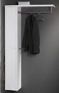 Garderobe Mit Stange : wandgarderobe mit ablage kleiderstange und wandschrank moderne garderobe wei hochglanz ~ Sanjose-hotels-ca.com Haus und Dekorationen