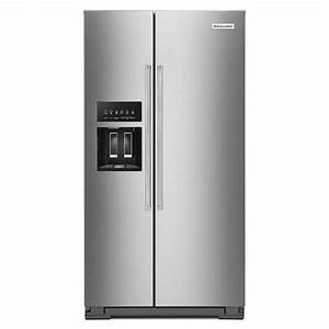 Kitchenaid 19 8 Cu  Ft  Side By Side Refrigerator In