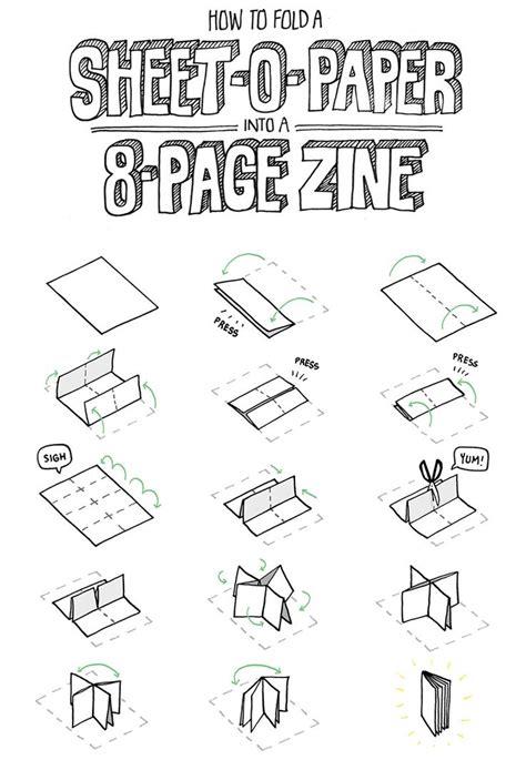 pg zine   single sheet  paper folding paper pinterest paper book zine  book
