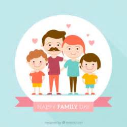 design hintergrund glückliche familie tag flache design hintergrund der kostenlosen vektor