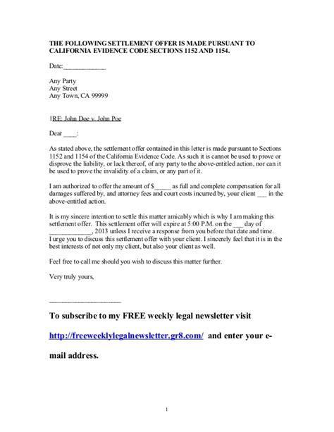 settlement letter sle free printable documents