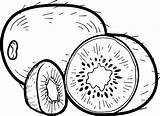 Kiwi Coloring Pages Fruit Fun Preschoolers Printable Print sketch template