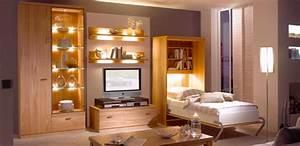 Www Schrankbetten De : nehl wohnideen wohnidee mit einem schrankbett in nussbaum ~ Sanjose-hotels-ca.com Haus und Dekorationen