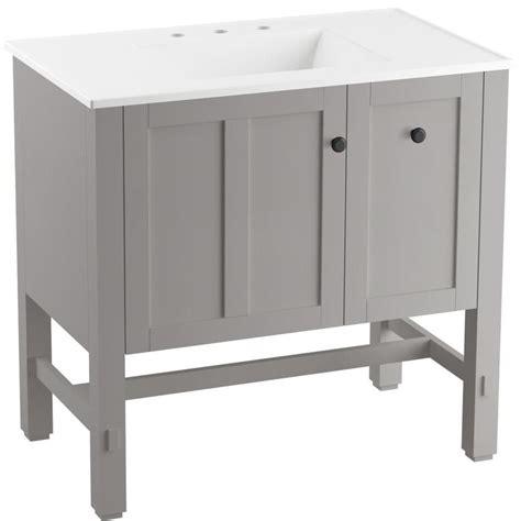Kohler Tresham Vanity by Kohler Tresham 37 In Mohair Grey Single Sink Bathroom