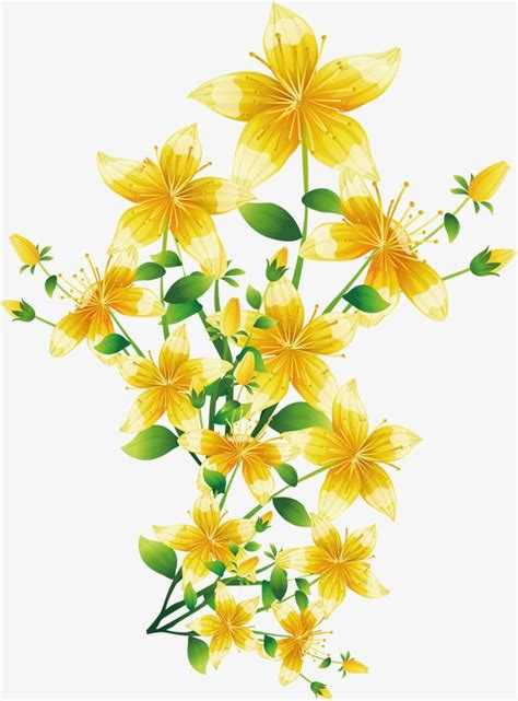 yellow flower vector clipart   cliparts
