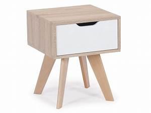 Table De Chevet Scandinave Ikea : table de chevet scandinave 1 tiroir solal ch ne clair conforama ~ Teatrodelosmanantiales.com Idées de Décoration