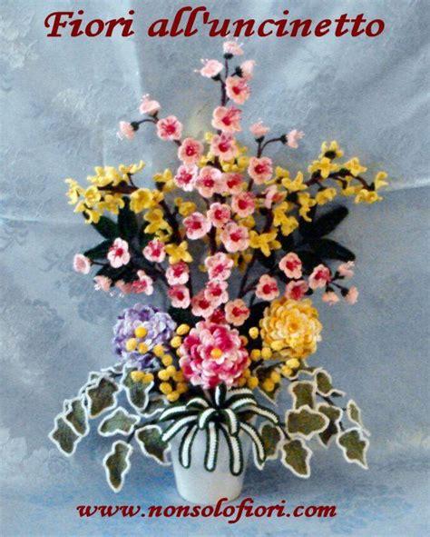 composizioni fiori uncinetto composizione di fiori all uncinetto www nonsolofiori