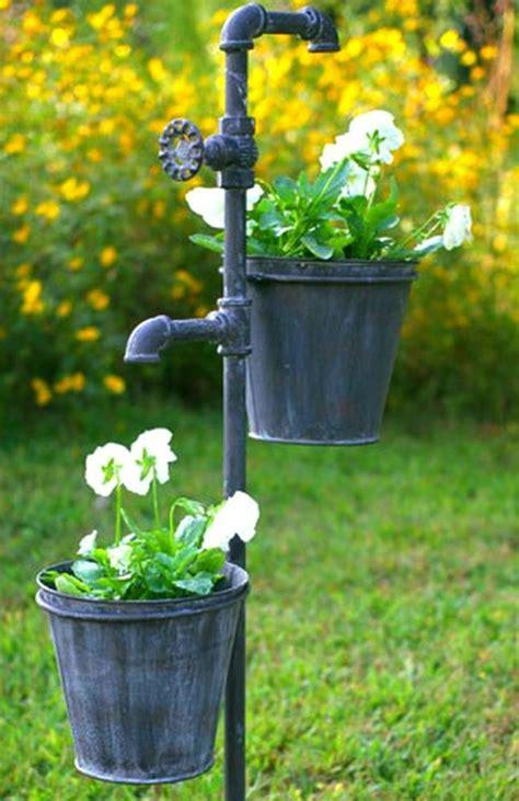 Faucet Spigot Knob Weathered Gray Bucket Garden