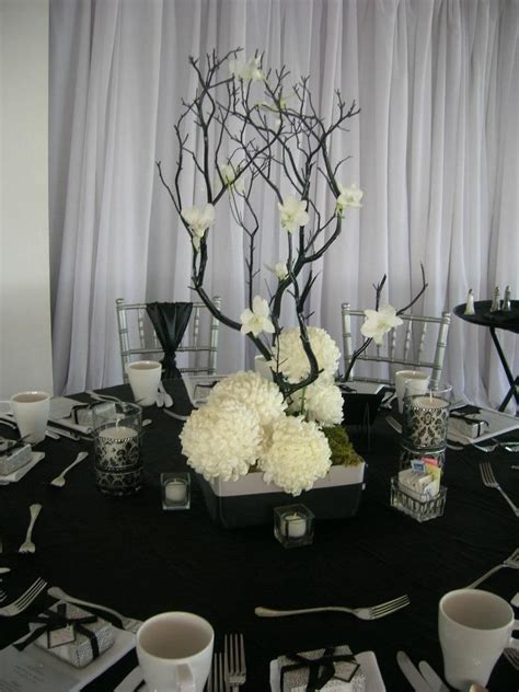 black and white table arrangements 91 best images about black and white centerpieces flower