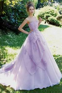 high low lace wedding dress with purple accents were With wedding dress with purple accents