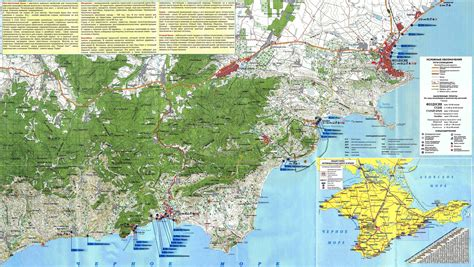 Карта восточного Крыма
