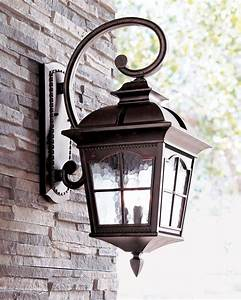 Traditional outdoor lights adding a touch of class to