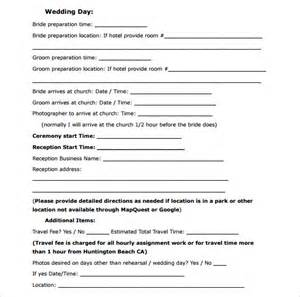 marriage planner wedding contract template 18 free documents