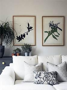 Botanical, Art, Print, Wall, Art, Black, White, And, Green