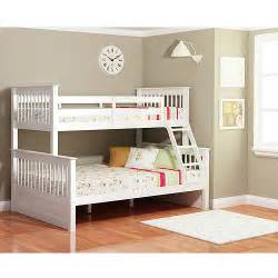 dallan twin over full bunk bed white furniture walmart com