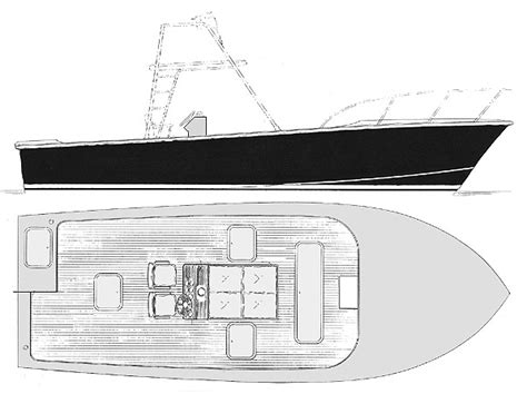 Inboard Fishing Boat Plans by Carolina Angler 31 Open Cockpit Inboard Sportfisher Boat