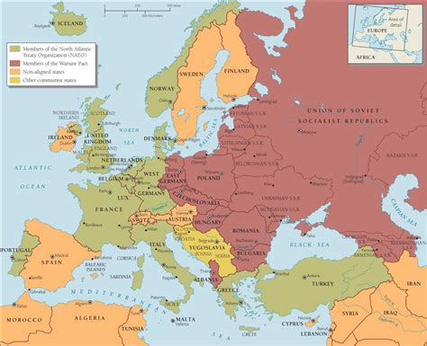 cold war europe map quotes